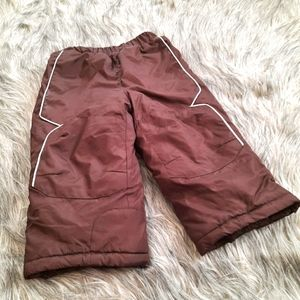 Insulated Snow Pants Brown 2T